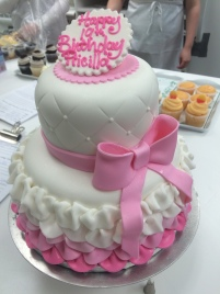 Pink and White Fondant with Frills