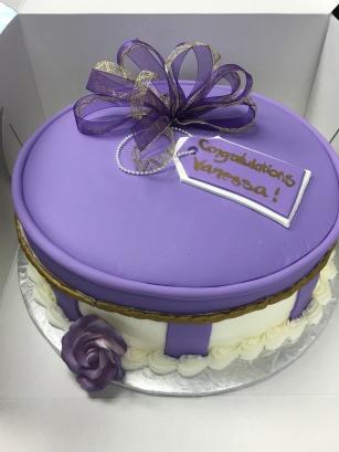 Purple Bridal Shower w/ Ribbon Bow